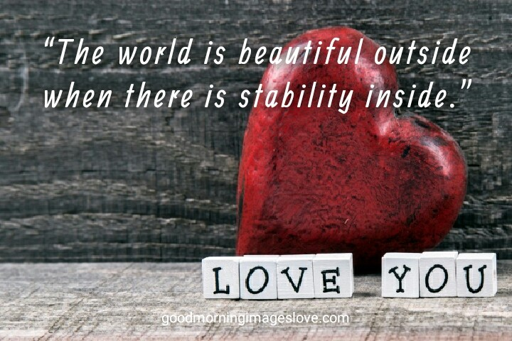 Loving heart with Love You quotes