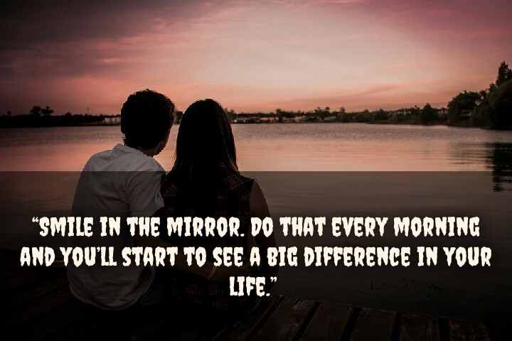 couple set front of river watching sun rising quotes