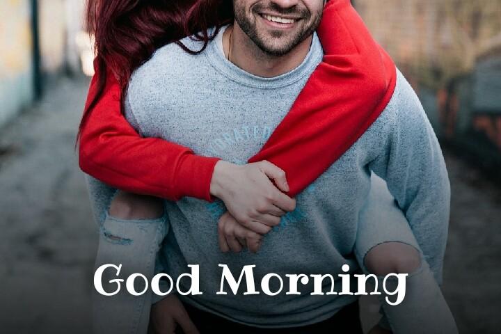 a couple joying wishes good morning