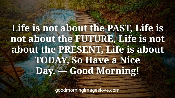 Good Morning quotes water