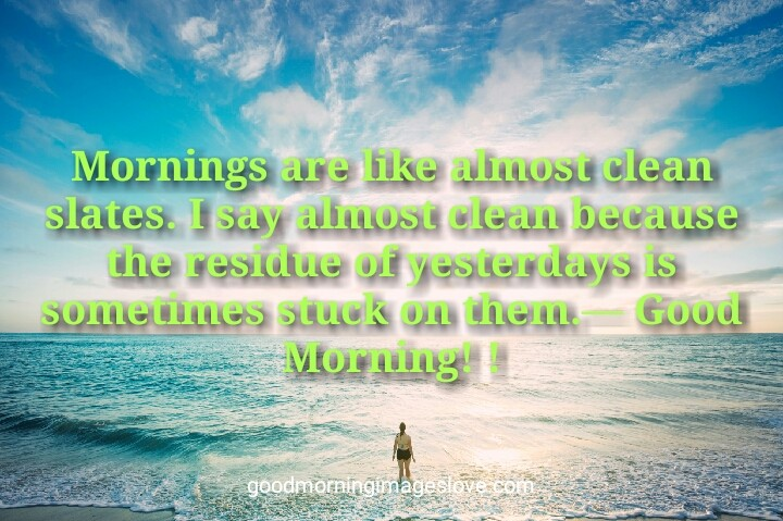Good Morning Quotes Sea