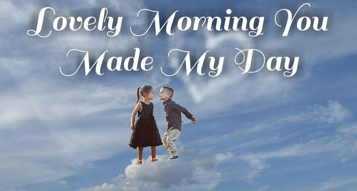 cute boy and girls morning wishes