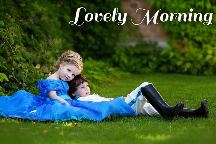 boy in girls lap good morning images in nature