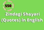 550 Zindagi Shayari (Quotes) in English