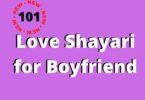 Love Shayari in English for Boyfriend