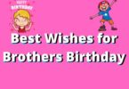 Wishes for Brothers Birthday – Happy Birthday Brother